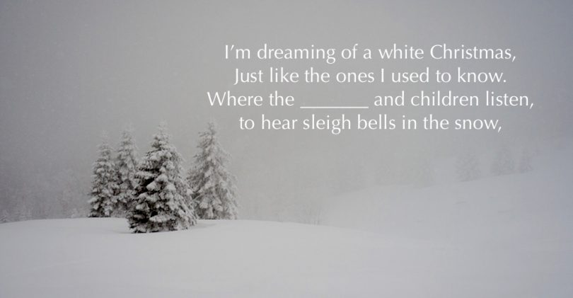 what is happening in this setting of white christmas - Im Dreaming Of A White Christmas Lyrics